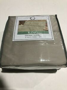 Laurel crest king 300 thread count 4 piece sheet set Beige