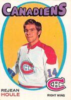 1971-72 O-Pee-Chee #147 Rejean Houle Montreal Canadiens