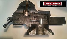 Last1 Rare Black Craftsman Heavy Duty Bench Vise 5 Inch Swivel | Anvil | 51855