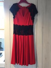 Black And Red Florence Style Dress. Julian McDonald (star)