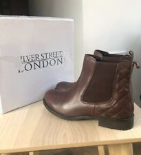 SILVER STREET Brown Leather Mira Chelsea Boots UK 6 (39) Damaged Box