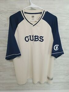 Majestic Cooperstown Collection Chicago Cubs Throw Back Jersey Size XL Sewn