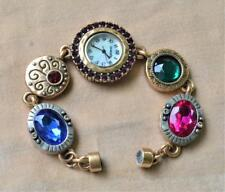 Chico's Ladies Watch with a Rhinestones Bezel and Bracelet Mother of Pearls Dial