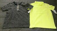 NWT Carter's Boys 4-5 Yellow Garment Dyed Size Polo or Black Stripe Crew Neck