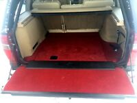 RANGE ROVER P38 VOGUE RED CARPET INTERIOR AND BOOT SET