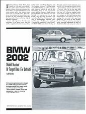 Auto Brochure - BMW - 2002 - Test Reports - 1968 - 4 items (A1134)