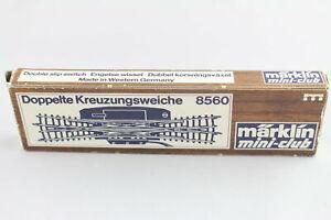 "8560 Electric "" Double cross "" DKW Märklin Mini Club Gauge Z Original Packaging"