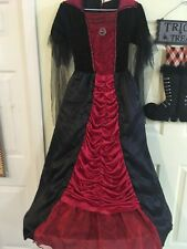 Vampiress Halloween Costume Size 10