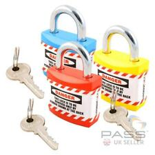 LOTO Jacket Lockout Lock with Regular Shackle - Set of 3 Non Conductive - Keyed