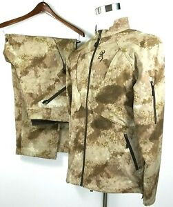 Browning SPEED Back Country A-TACS Hunting Jacket Size L & Pants Size 40 x 32