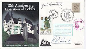 40th Anniv of Liberation of Colditz signed inmates J Courtenary,P R Reid Escaper