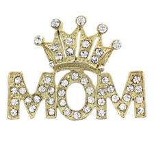 Gold Queen Princess Love Tiara Heart Mother's Day Gift Mom Pin Brooch Charm q1