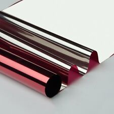 Red&silver Reflective Mirrored Window Film Solar Tint Glass Sticker 20''x118''