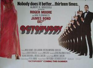 """OCTOPUSSY (1983) RARE VINTAGE 30""""x40"""" UK CINEMA TEASER QUAD POSTER   ROGER MOORE"""