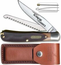 Buzz Saw Trapper Old Timer Folding Knife 2 Stainless Steel Blades Delrin Handle