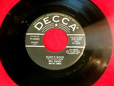 BILL HALEY~RUDY'S ROCK~VG+~DECCA~BLUE COMET BLUES~~ ROCKABILLY 45