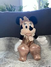 """New listing New Disney Parks 12"""" Minnie Mouse Rose Gold Plush Toy Nwt Disneyland Collectible"""