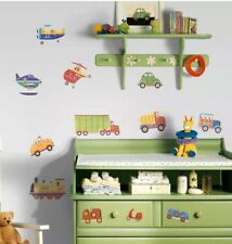 Room Mates Wall Decals Transport Vehicles Children's pre cut Wall Stickers