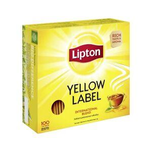100 Lipton Teebeutel Schwarztee - 200 g - Yellow Label Tea free shipping