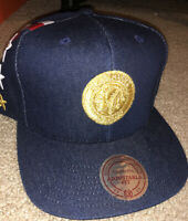 Chicago Blackhawks Mitchell & Ness SnapBack Patriotic Denim Hat RARE