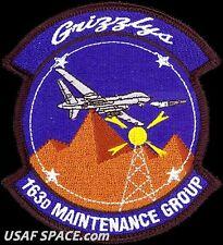 USAF 163rd MAINTENANCE GROUP -GRIZZLYS- March ARB, CA -MQ-1 Predator -VEL PATCH