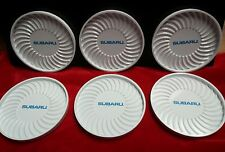Round white and blue Plastic Subaru Drink Coasters with holder (D1)