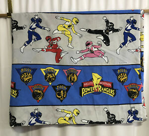 Vintage 2 PIECE Mighty Morphin Power Rangers Twin Sheet Set - Flat, Fitted 1994