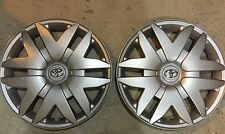 """Pair Of 2 61124 NEW Toyota Sienna 16"""" Inch Hubcaps Wheelcovers 2004 05 06 07 08"""