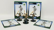 """Wizards Star Wars Miniatures Lot of 4 Exceptional Jedi w/ Cards 1.5"""" Figure RPG"""