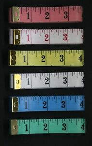 """DRESSMAKERS WIDE TAPE MEASURE - 60"""" / 150cm CHOICE OF 6 COLOURS - UK SELLER"""