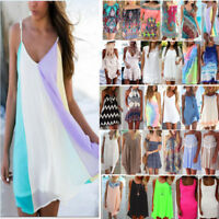 US Womens Summer Short Mini Dress Beach Bikini Cover Up Kaftan Swimwear Sundress