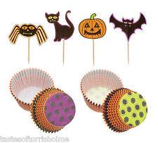 Kitchen Craft Halloween Set De 24 Cup Cake casos & Bat, Calabaza & cattoppers
