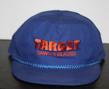 Target Saws & Blades Snapback embroidered adjustable baseball hat Vintage Blue