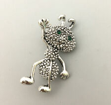 Betsey Johnson Brooch Pin Women's Silver Ant Insect Crystal