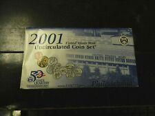 2001 U S Mint Uncirculated P&D Sets.  20 Unc Coins Total