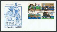#1794a 15c 1980 Summer Olympics, Artmaster FDC **ANY 4=FREE SHIPPING**