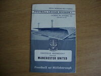 1961/2 Sheffield Wednesday v Manchester United - League Division 1