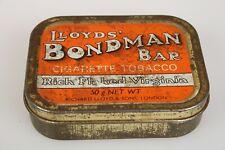 Lloyd's Bondman Bar Rich Flaked Virginia Tobacco Tin LONDON