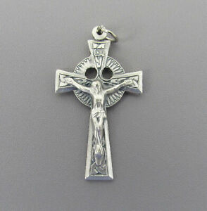 Celtic Rosary Cross Crucifix ITALY Making Rosaries Supplies Parts C223 Silver