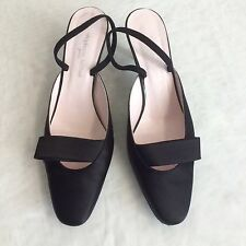 STEPHANE KÈLIAN Damen Schuhe Sling Pumps Größe 38 Schwarz Abendschuhe Luxus Chic