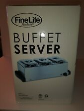 Fine Life Food Warming Tray Triple Buffet Server Stainless Steel (FW173S)