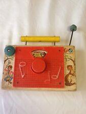 "Vintage Fisher price Woo/plastic Tv Radio ""pop Goes The Weasel"" 1965 Does Work"