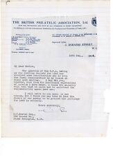 Philatelic Congress of Great Britain 1938 Cambridge correspondence from minute b