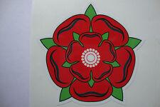 3 x Red Rose Of Lancashire Stickers/Decals  Motorbike Cricket Helmets Car Bumper