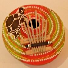 Colorful Turtle 7-Keys Mbira Kalimba Karimba African Handmade of Coconut Shell