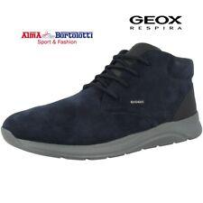 Geox u DAMIANO Polacchino Uomo Stivaletti Boots Scarpe scamosciato blu lacci