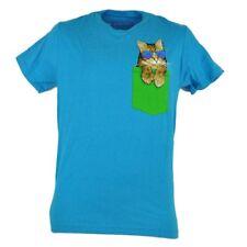 Kitty Cat Pocket Sunglasses Cute Novelty Tony Hawk Skater Tshirt Tee Blue