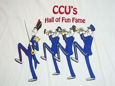 Vintage Coastal Carolina University CCU Hall of Fun Fame Marching Band T Shirt L
