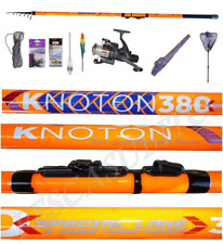 kit trota lago canna knoton 5/10g + mulinello + accessori pesca tremarella