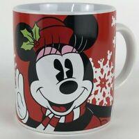 Disney Minnie Mouse Mug Red Snowflake Christmas Winter Coffee Tea Cup Large